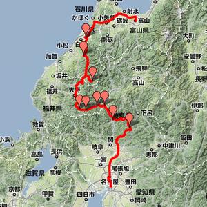 2008年04月30日 名古屋-富山 白山ルート