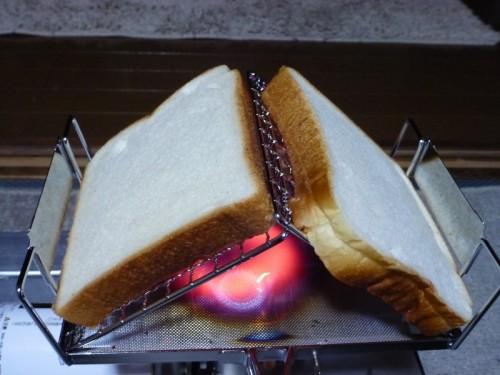 パンは横置きで。