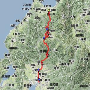 2011夏休みツーリング 8月19日(富山~名古屋)